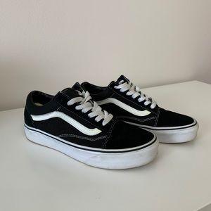 Black Old Skool Vans Size 7